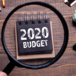 magnified notepad reading 2020 Budget